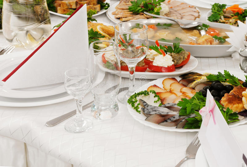 Food. Catering food at a wedding party - a series of RESTAURANT images stock photos