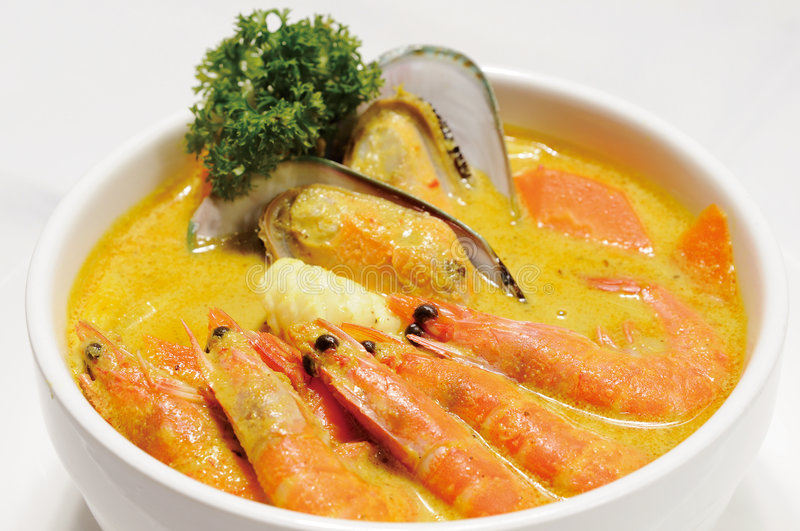 Food. Malaysia Food,soup,shrimp lobster royalty free stock photography