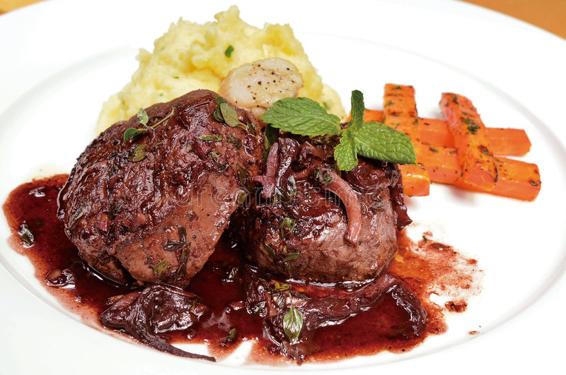 Food. Health and delicious steak food stock photography