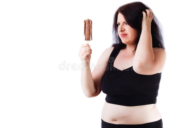 Food addiction, diet, overweight, healthcare, weight loosing, fi royalty free stock image