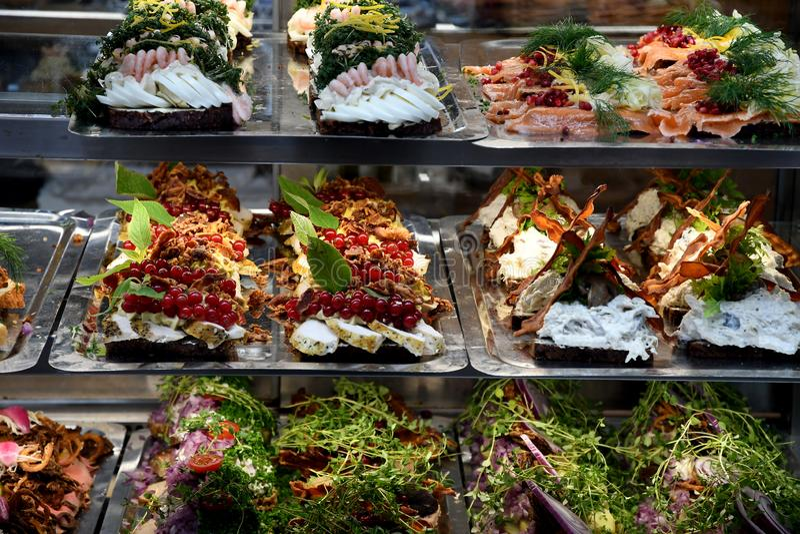 FOOD AND WINES FOOD MARLL IN COPENHAGEN. Copenhagen/Denmark 18..September 2018.. .Food and wine hall in Copenhagen Denmark. Photo.Francis Joseph Dean / stock photo
