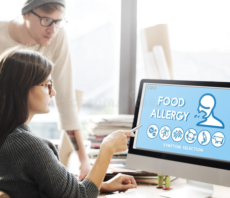 Food Allergy Disorder Sickness Healthcare Concept royalty free stock photo