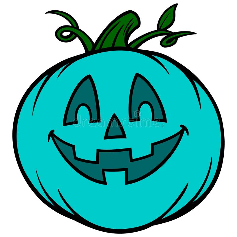 Food Allergy Jack-O-Lantern. A vector illustration of a Food Allergy Jack-O-Pumpkin stock illustration