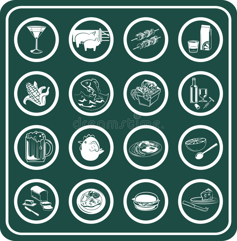 Free Food And Drink Icons Royalty Free Stock Photo - 895765