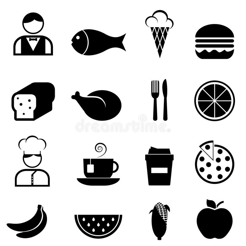 Free Food And Restaurant Icons Stock Images - 27629044