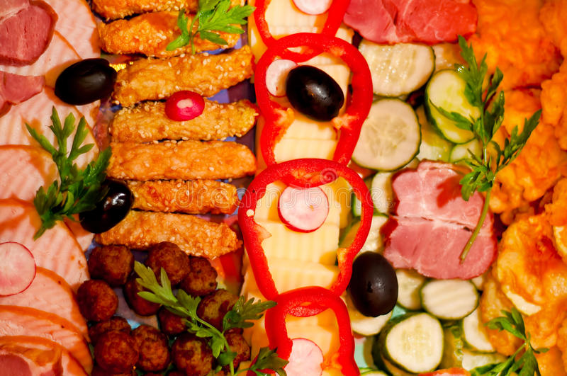 Food appetizers royalty free stock photo