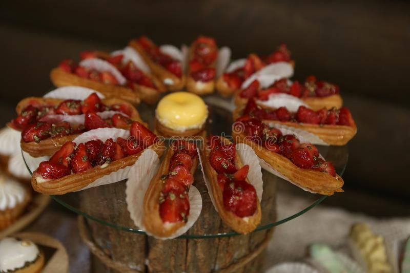 Food appetizers buffet delicious sweets festive party. Food appetizers buffet selection of delicious sweets at a festive party, banquet, celebration, tasty, eat stock photo