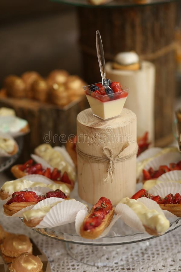 Food appetizers buffet delicious sweets festive party. Food appetizers buffet selection of delicious sweets at a festive party, banquet, celebration, tasty, eat royalty free stock photos