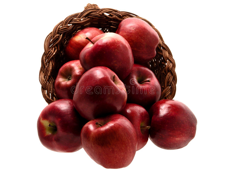 Food: Apple Basket (3 of 4) stock photography
