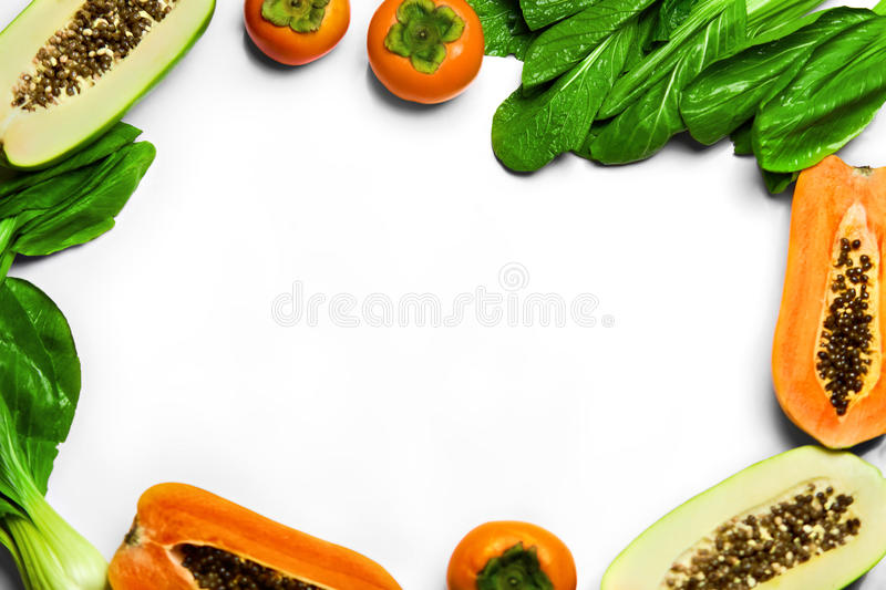 Food Background. Healthy Fresh Raw Organic Fruits, Vegetables. N royalty free stock photo
