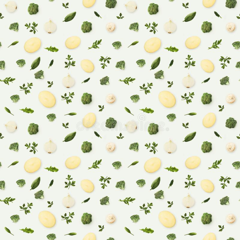 Food background and pattern of fruits and vegetables royalty free stock photo