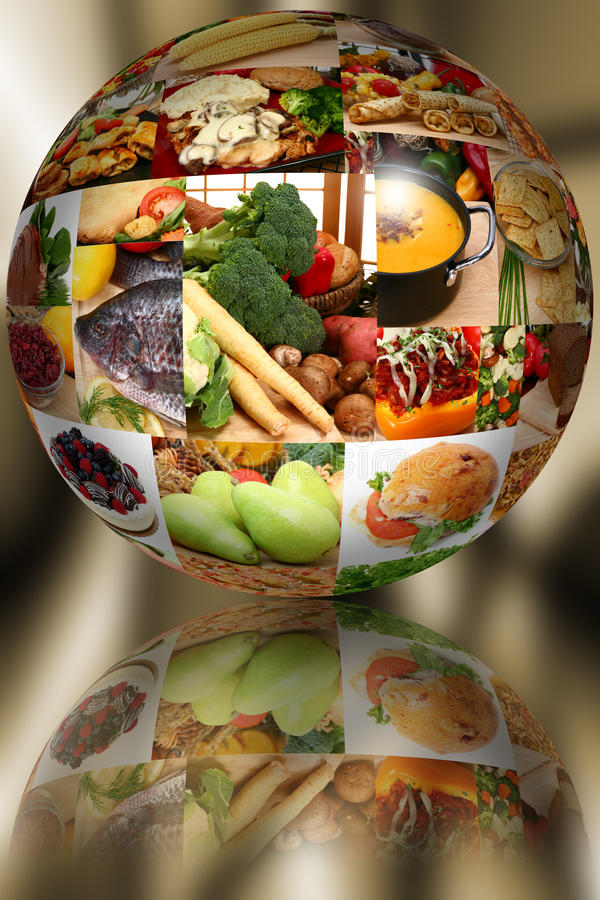 Food Ball over Abstract royalty free stock images