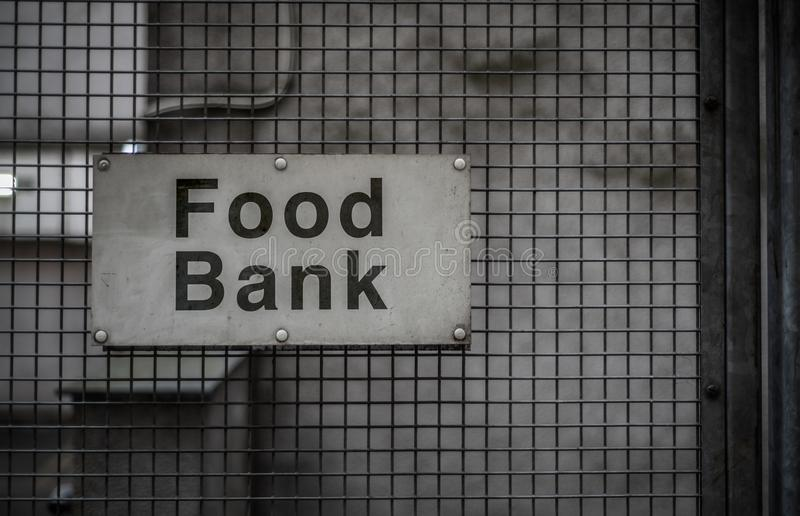 Food Bank Sign royalty free stock photos