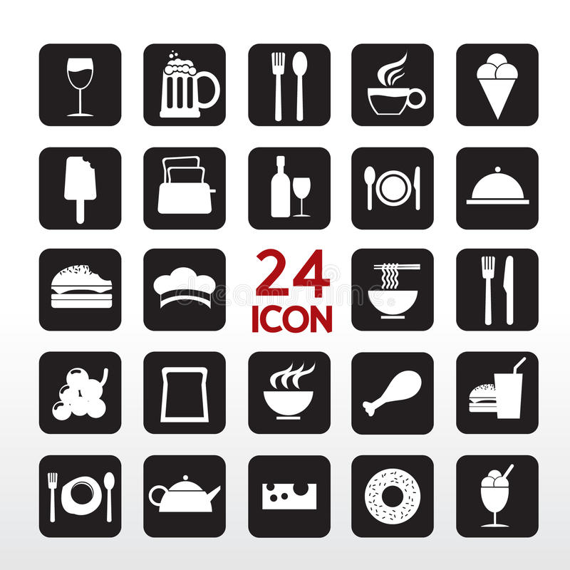 Download Food And Beverage Icon. stock vector. Image of bread - 37081501