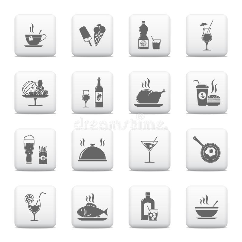 Food a& Beverage icons vector illustration