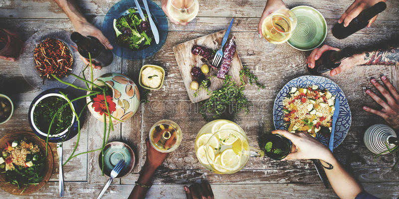 Food Beverage Party Meal Drink Concept stock photos