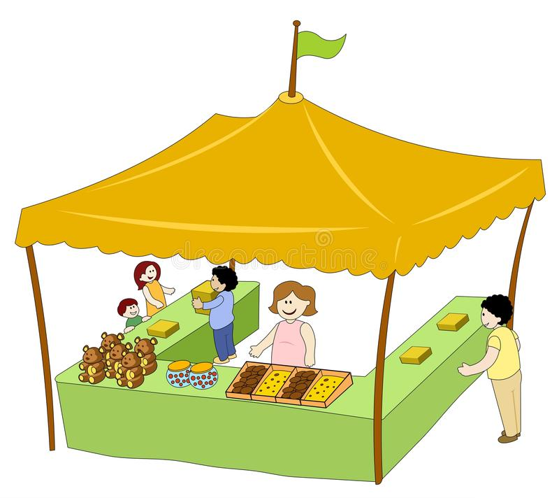 Download Food u0026 Beverage Tent stock vector. Illustration of booth - 14726058  sc 1 st  Dreamstime.com & Food u0026 Beverage Tent stock vector. Illustration of booth - 14726058