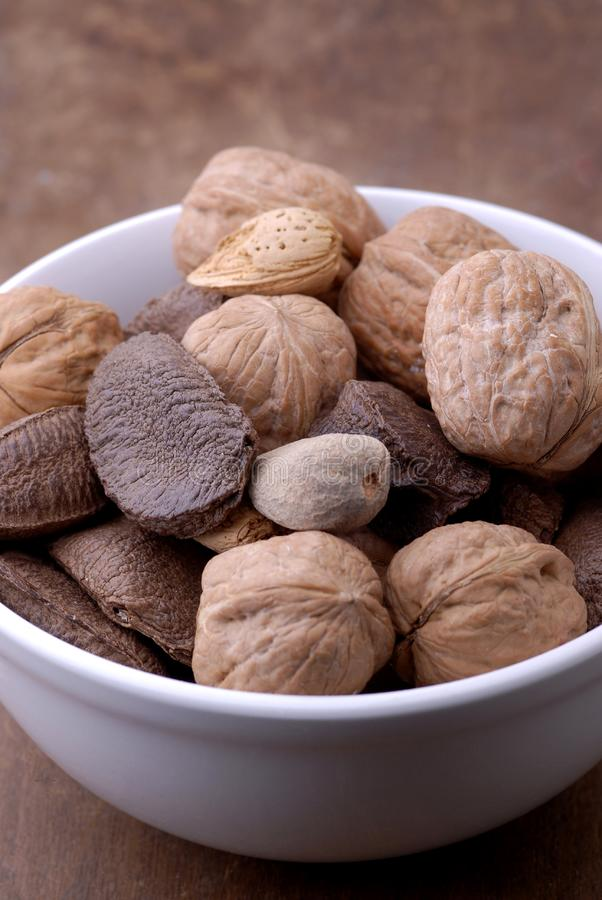 Food - Bowl of Nuts stock photography