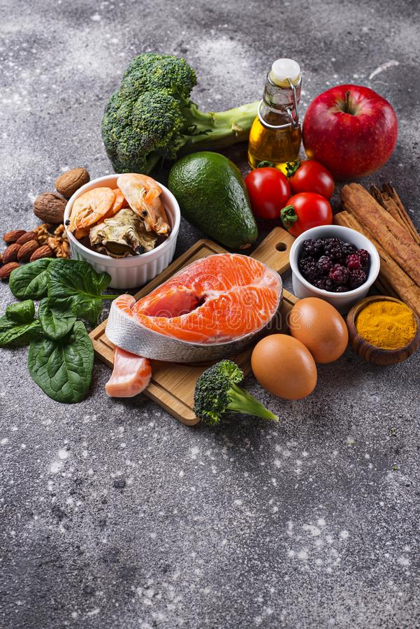 Food for brain and good memory royalty free stock photos
