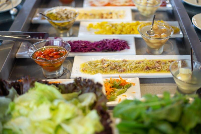Food buffet in restaurant stock photos
