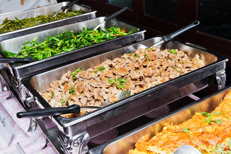 Food buffet. In the Thailand stock photos