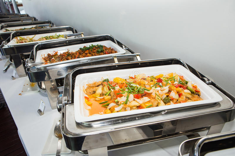 Food buffet. In the Thailand royalty free stock photos