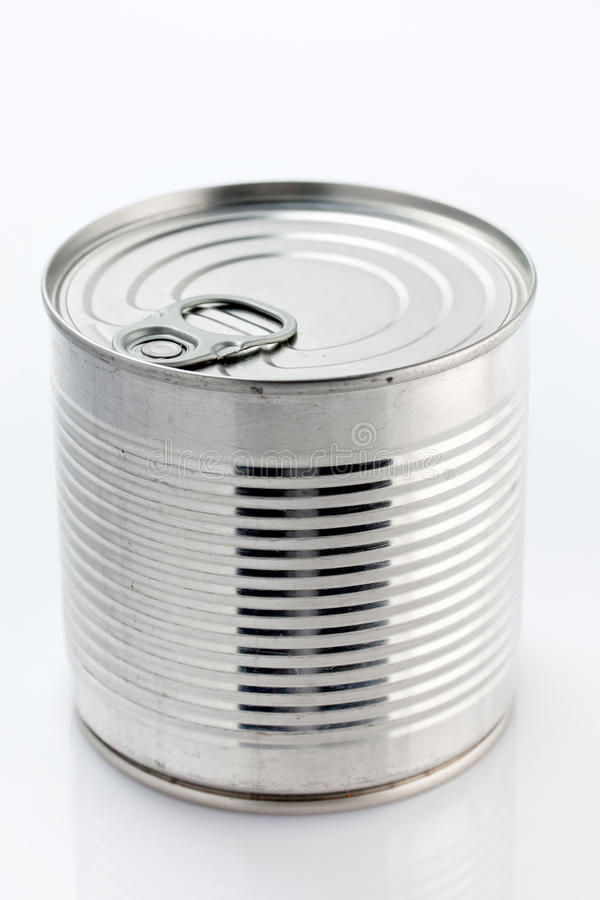 Food can. Close up of an unopened tin can of food royalty free stock images