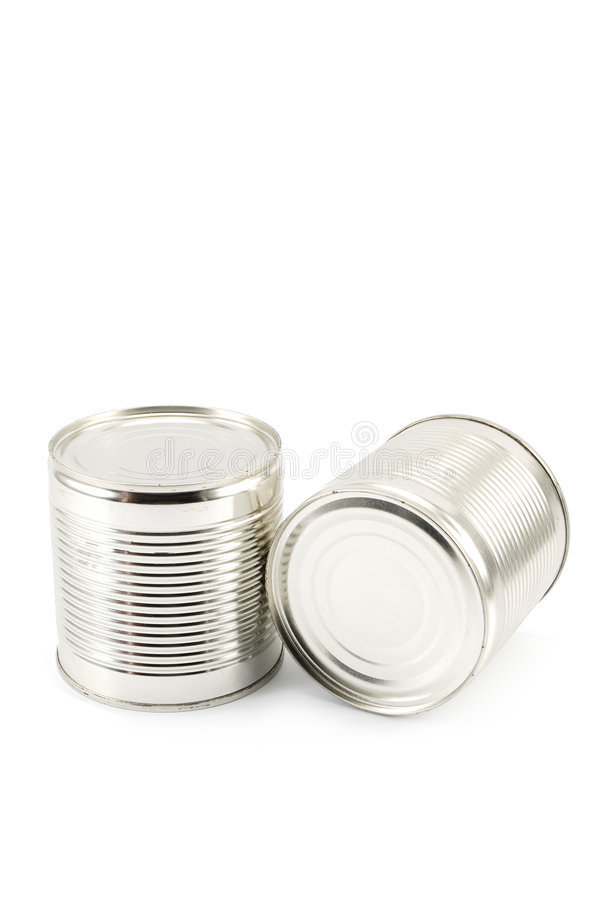 Food can. On white background stock image