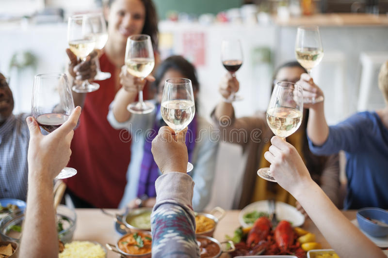 Food Catering Cuisine Culinary Gourmet Party Cheers Concept stock photography