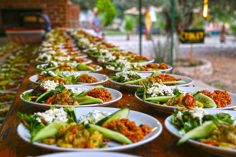 Food catering. Finger food arrangement - food catering royalty free stock images