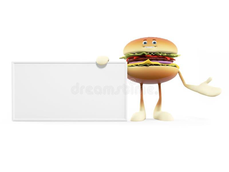 Food Character - Burger Royalty Free Stock Images