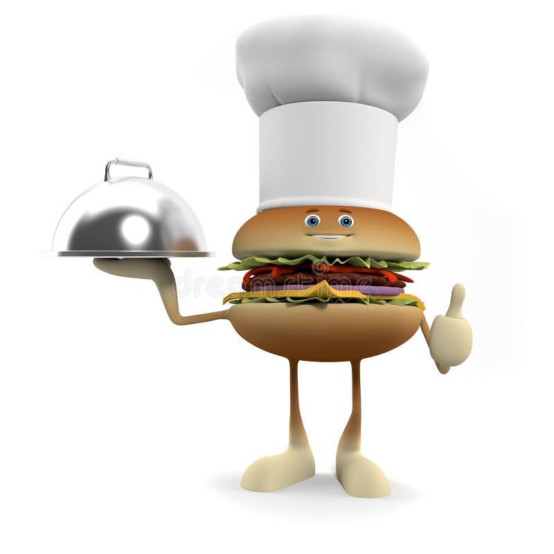 Food Character - Burger Stock Photo