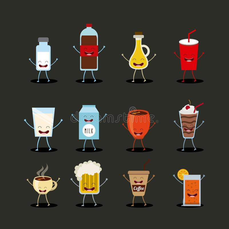 Food character design royalty free illustration