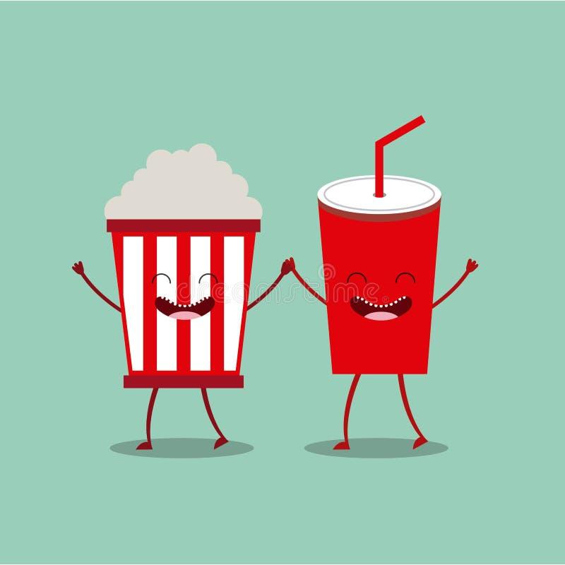 Food character design stock illustration
