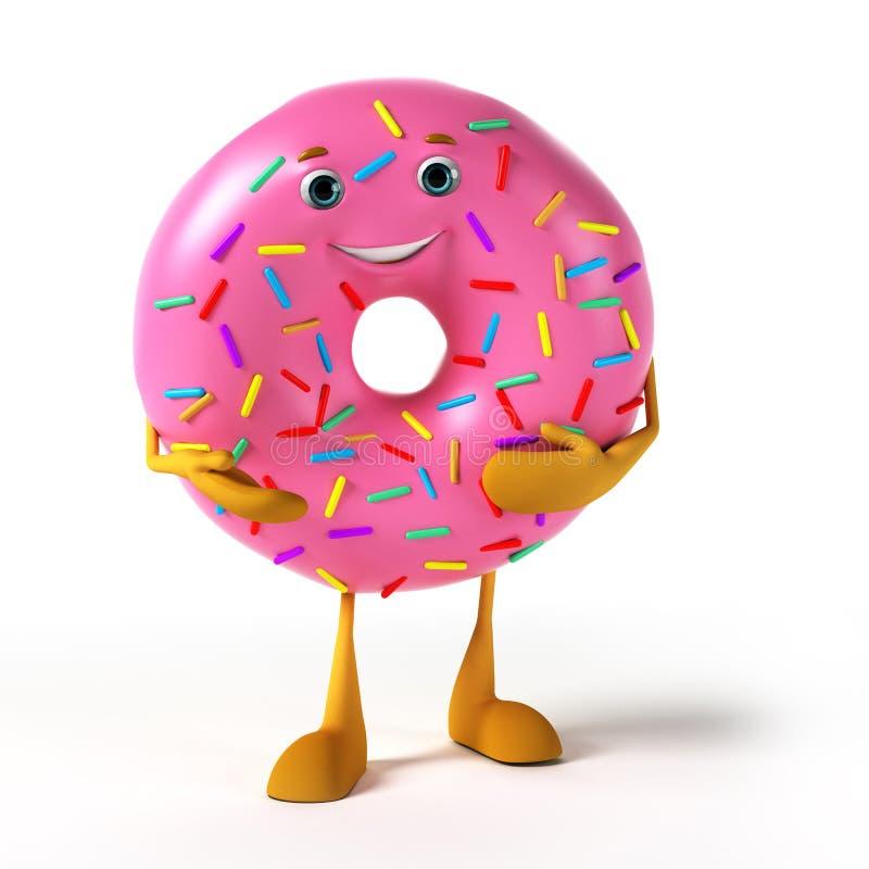 Food character - donut stock illustration
