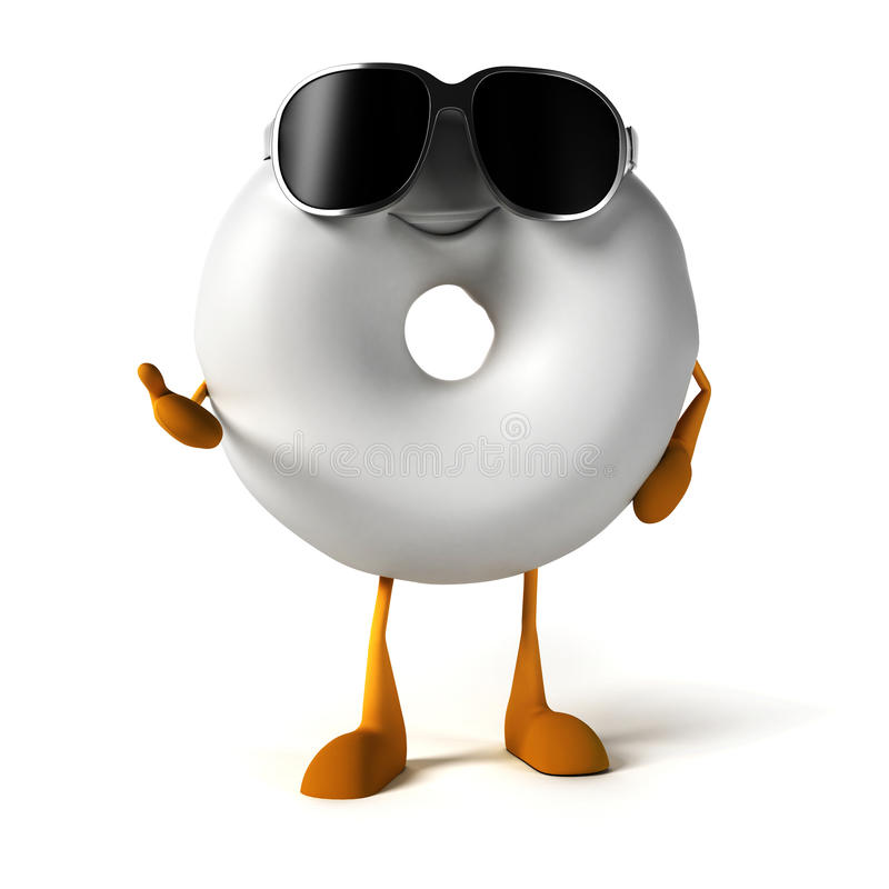 Food Character - Donut Royalty Free Stock Images