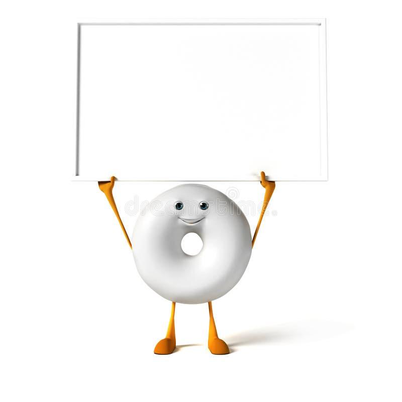 Download Food character - donut stock illustration. Image of bake - 28712039
