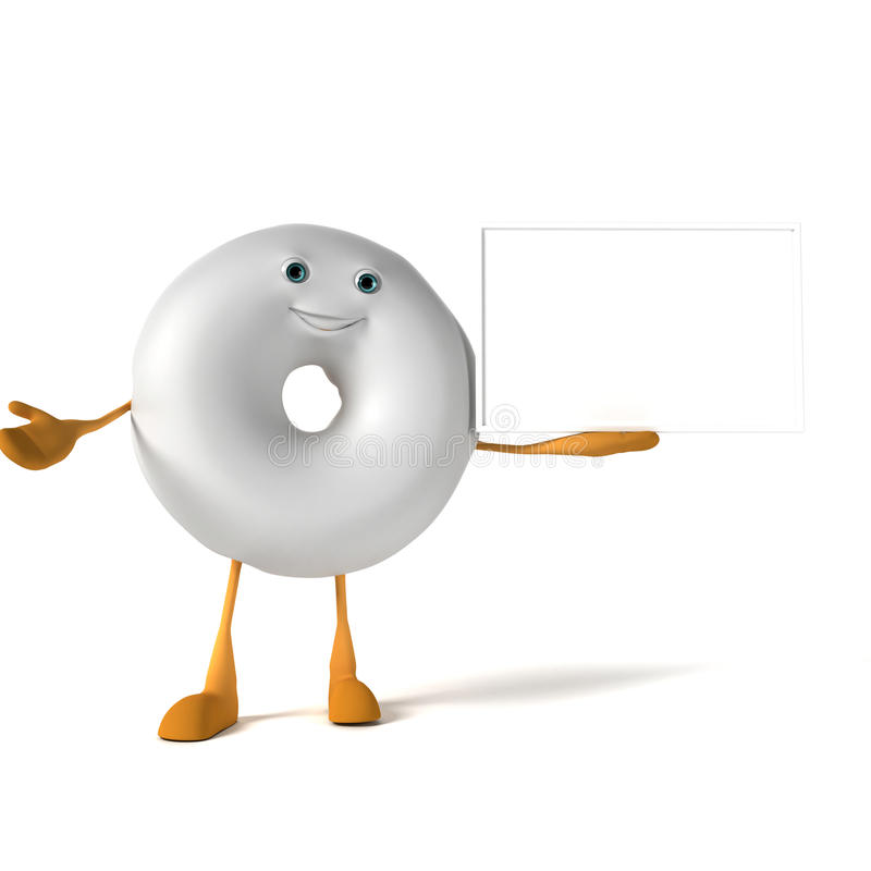 Download Food character - donut stock illustration. Image of round - 28712043