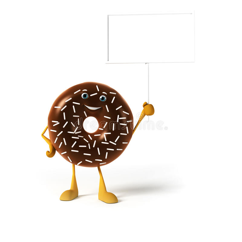 Download Food character - donut stock illustration. Illustration of dieting - 28712044