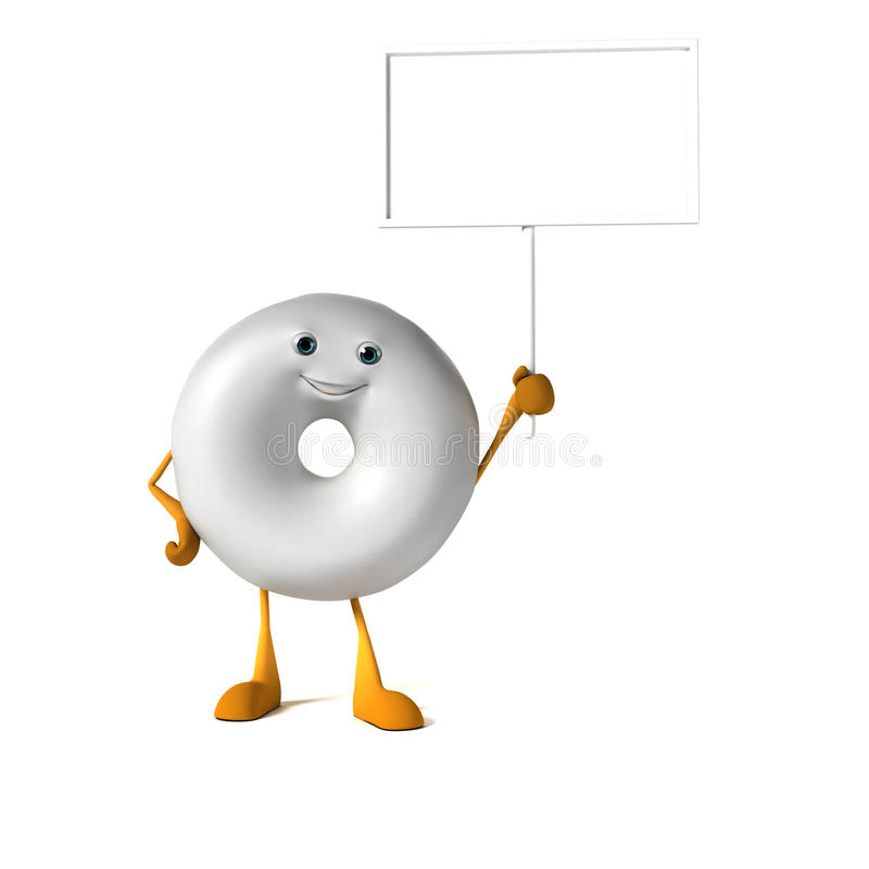 Download Food character - donut stock illustration. Illustration of calories - 28712051