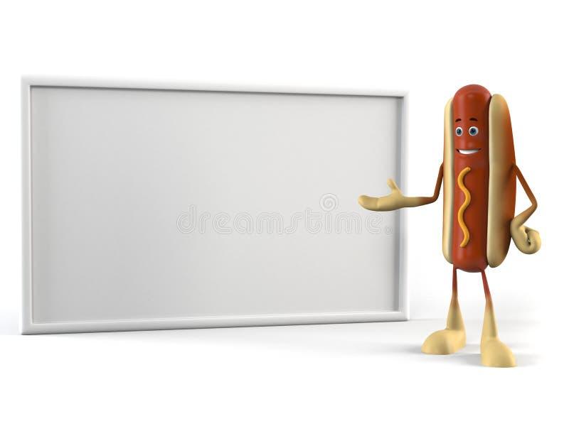 Food Character - Hot Dog Royalty Free Stock Photography