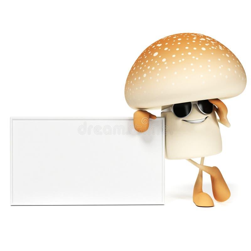 Download Food character - mushroom stock illustration. Illustration of organic - 28963023
