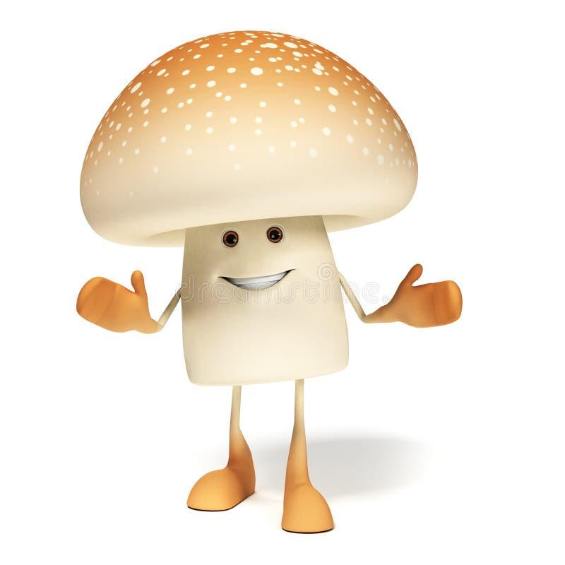 Download Food character - mushroom stock illustration. Illustration of plant - 28989988