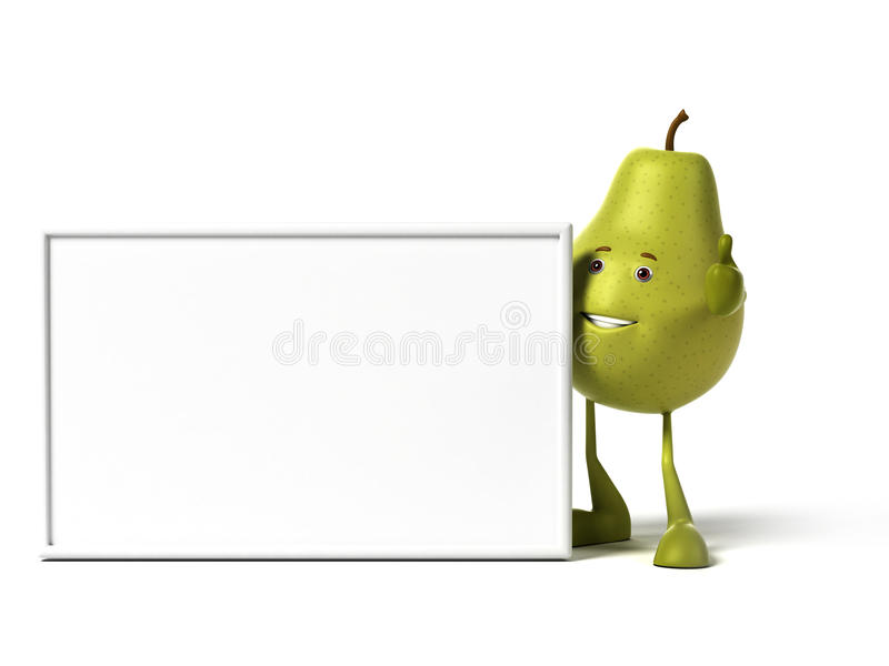 Download Food character - pear stock illustration. Image of pear - 25524067