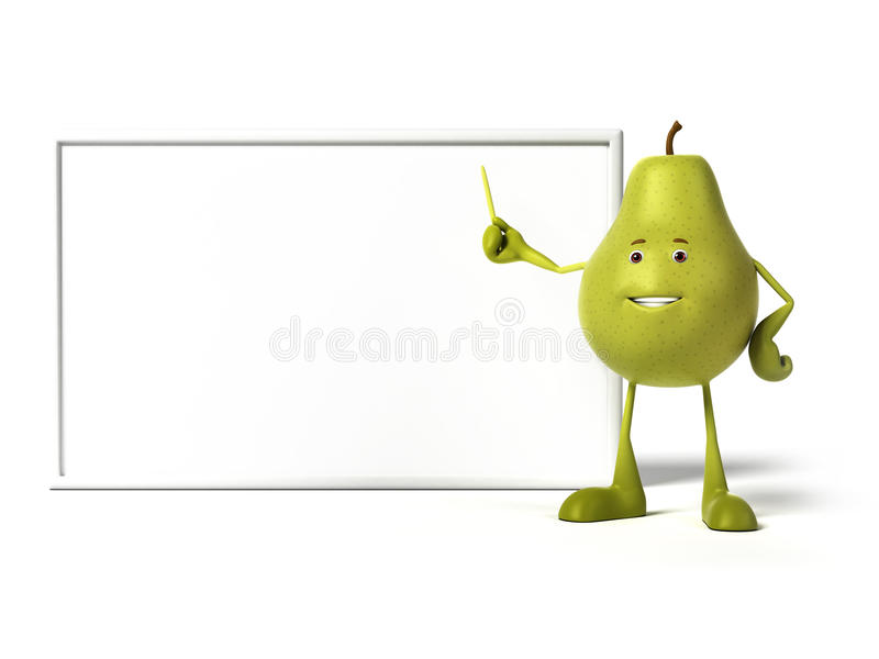 Download Food character - pear stock illustration. Illustration of board - 25524089