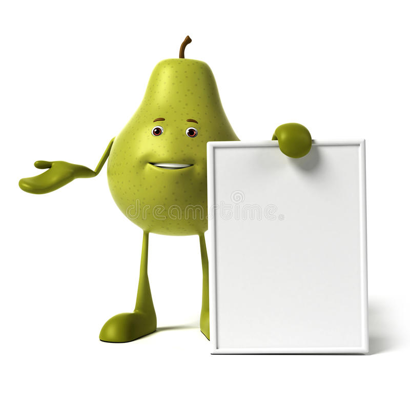 Food Character - Pear Royalty Free Stock Image
