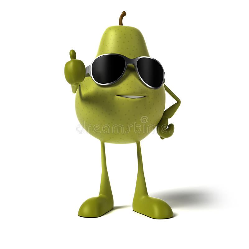 Download Food character - pear stock illustration. Image of fruit - 25524170