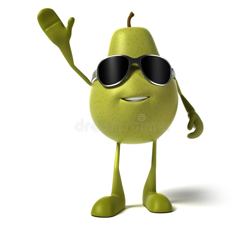 Download Food character - pear stock illustration. Illustration of comic - 25524173