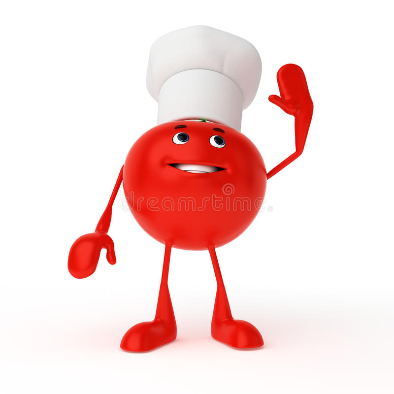 Food Character - Tomato Royalty Free Stock Photography