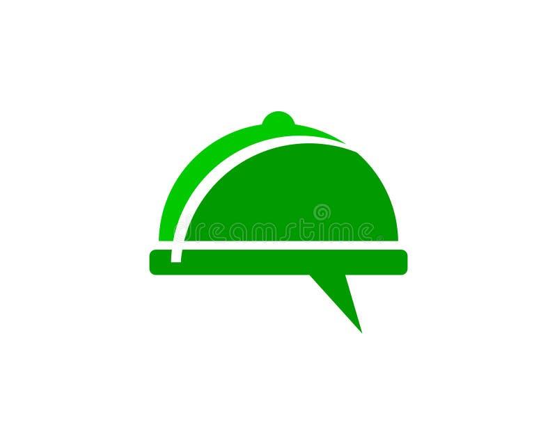 Food Chat Logo Design Template royalty free illustration